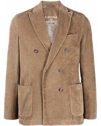 Circolo 1901 Corduroy Blazer Jacket - Multicolor