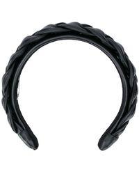 Miu Miu Braided Headband - Black