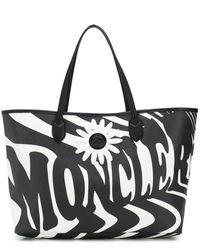 Moncler Genius Logo Print Tote - Black