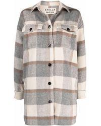 Stella Nova Checked Button-up Shirt Coat - Multicolour