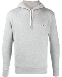 Maison Kitsuné Hooded Cotton Jumper - Grey