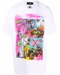 DSquared² - Graphic-print Cotton T-shirt - Lyst
