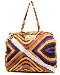 Formy Studio Stripe-print luggage Bag - Yellow