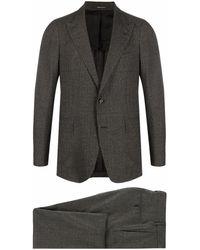 Tagliatore Check-print Single-breasted Suit - Black