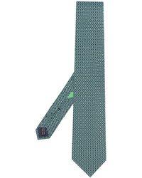 Ferragamo - Silk Gancini Pattern Tie - Lyst