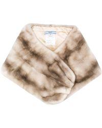 Prada Fur Bolero-style Scarf - Multicolour