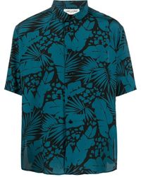 Saint Laurent Tropical-print Shirt - Blue