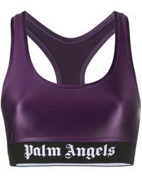 Palm Angels Logo Sports Bra - Pink