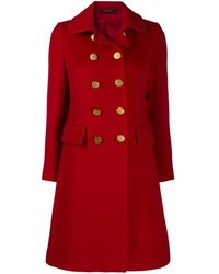 Tagliatore Double-breasted Coat - Red