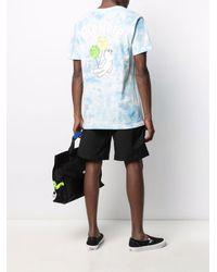 RIPNDIP Tie-dye Logo-print T-shirt - Blue
