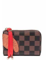 Sprayground Check-print Zipped Wallet - Brown