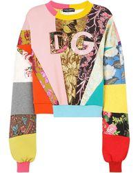 Dolce & Gabbana - Multi-panel Logo-patch Jumper - Lyst