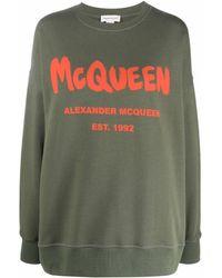 Alexander McQueen Logo-printed Sweatshirt - Green