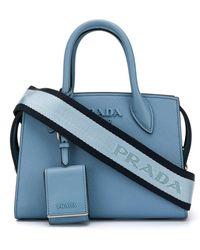 Prada Logo Plaque Mini Bag - Blue