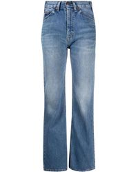 Valentino X Levi's Bootcut High-rise Jeans - Blue