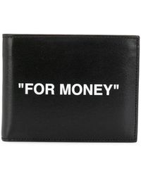 Off-White c/o Virgil Abloh For Money-print Leather Bi-fold Wallet - Black