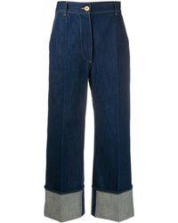 Patou High-rise Cuffed Jeans - Blue