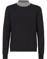 Fendi Ff Vertigo Turtleneck Sweater - Black