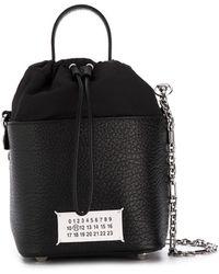Maison Margiela Logo Patch Bucket Bag - Black