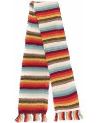 Alanui Striped Wool-blend Scarf - Blue