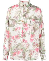 Tom Ford - Floral-print Lyocell Shirt - Lyst