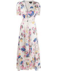 Saloni Floral-print Dress - White