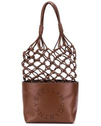 Stella McCartney Stella Logo Knotted Tote Bag - Brown