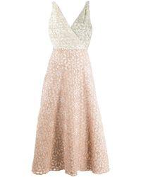 Harris Wharf London Floral Fil Coupé Dress - Pink