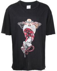 Alchemist Abstract-print Cotton T-shirt - Black