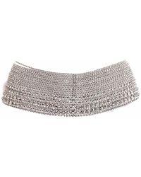 Benedetta Bruzziches Crystal-embellished Chain Belt - Metallic