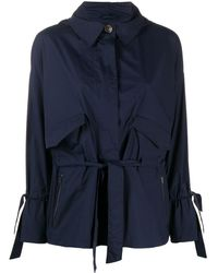 Herno Drawstring-waist Hooded Jacket - Blue