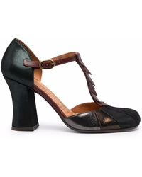Chie Mihara Fabad T-bar Court Shoes - Green