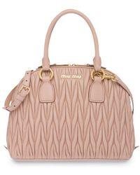 Miu Miu Matelassé Top-handle Bag - Multicolour