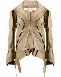Junya Watanabe Asymmetric Parka Jacket - Natural