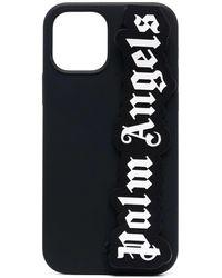 Palm Angels Logo-patch Iphone 12/12 Pro Case - Black