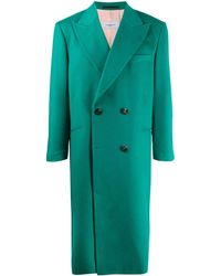CASABLANCA Double-breasted Fitted Coat - Green