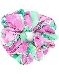 RIXO London Jasper Floral-print Scrunchie - Pink