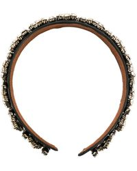 Christopher Kane Crystal Headband - Black