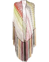 Missoni Abstract-pattern Scarf - Pink