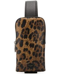 Dolce & Gabbana Leopard Print Cross-body Bag - Multicolour