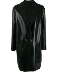 Pinko Double Breasted Coat - Black