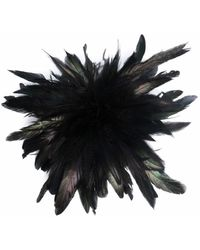 Peter Do Feather-embellished Hair Pin - Black