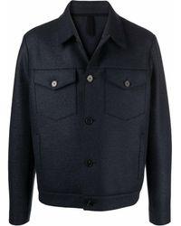 Harris Wharf London Felted Virgin Wool Jacket - Gray