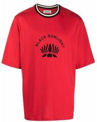 Wales Bonner Black Sunlight T-shirt - Red