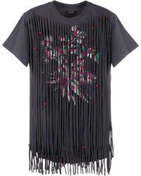 Isabel Marant Fringe Front T-shirt - Gray