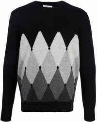 Ballantyne Argyle-knit Cashmere Jumper - Black