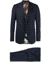 Gucci Embroidered GG Suit - Blue
