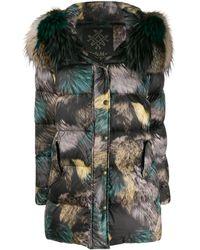 Mr & Mrs Italy Zipped Padded Coat - Black