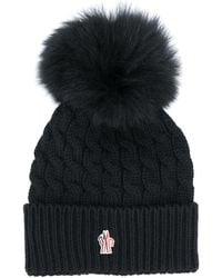 3 MONCLER GRENOBLE Pompom-embellished Virgin Wool Beanie - Black