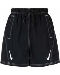 Nike Logo-print Detail Shorts - Black